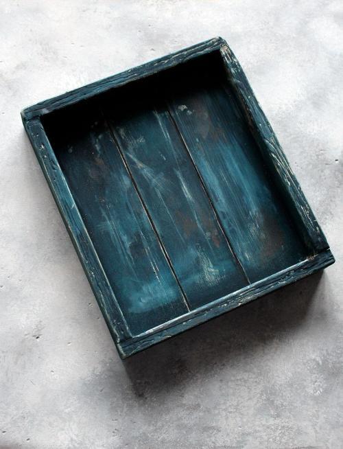 scatola vintage blu
