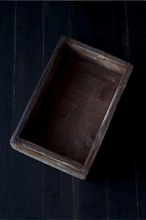 scatola legno vintage marrone chiaro
