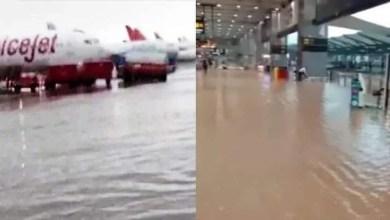 delhi igi airport waterlogging image