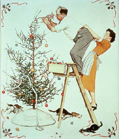 The Spirit Of Christmas Rockwell Paintings From The