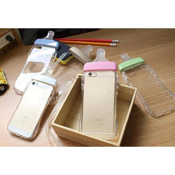 Baby Bottle TPU Silicone Rubber New 3D Case Cover Skin For ...