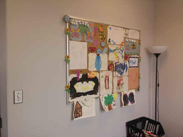 Amazing artwork designed by children in play therapy sessions.