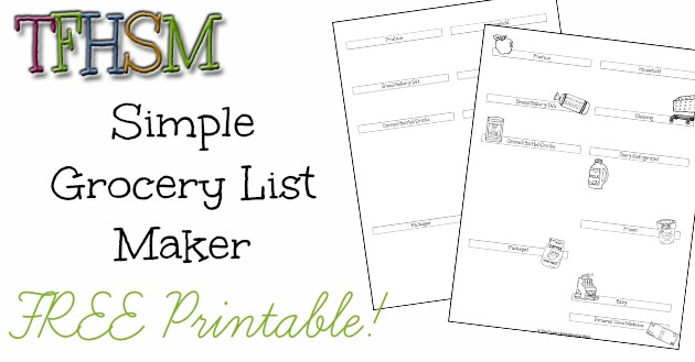 The Frugal Homeschooling Mom Grocery List Maker for Extreme Couponing