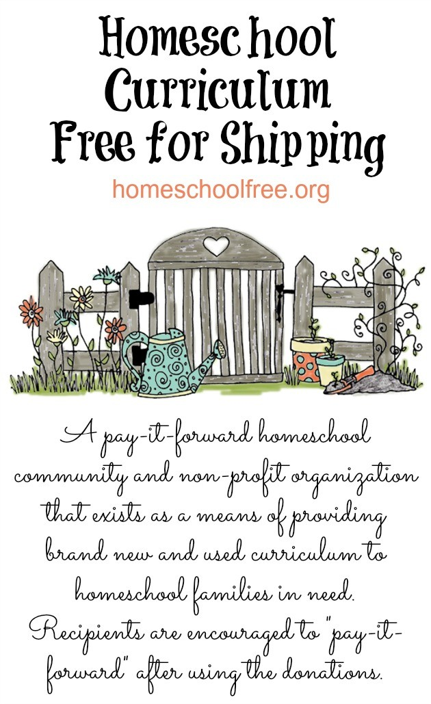 Homeschool Curriculum Free for Shipping Nonprofit