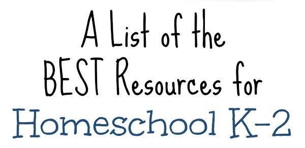 Homeschool Kindergarten 1st grade 2nd grade for Free at The Frugal Homeschooling Mom BEST list