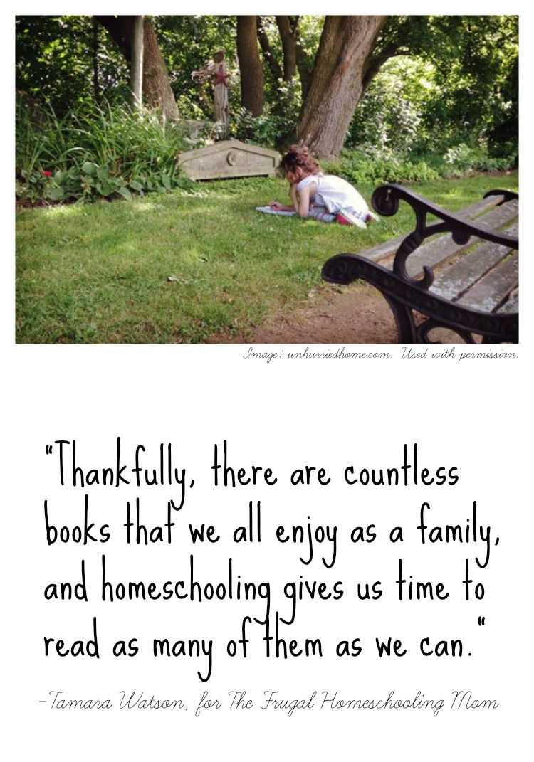 Thankfully, there are countless books that we all enjoy as a family, and homeschooling gives us time to read as many of them as we can.