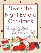 tfhsm Twas the Night Before Christmas free homeschool printable unit study mp