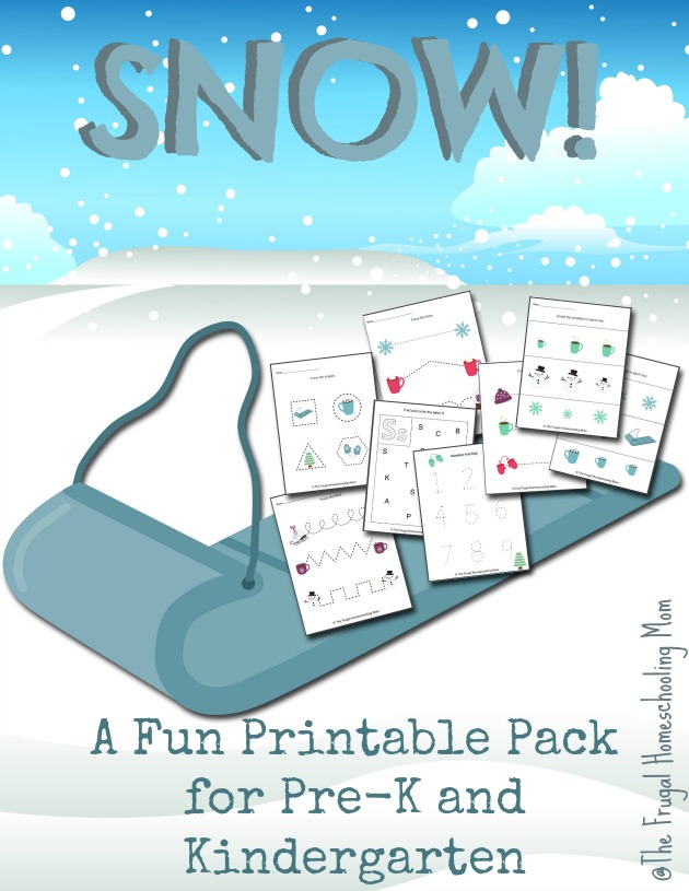 Snow FREE Printable Pack Preschool and Kindergarten The Frugal Homeschooling Mom