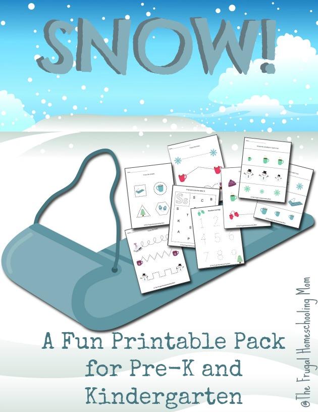Snow FREE Printable Pack Preschool and Kindergarten The Frugal Homeschooling Mom