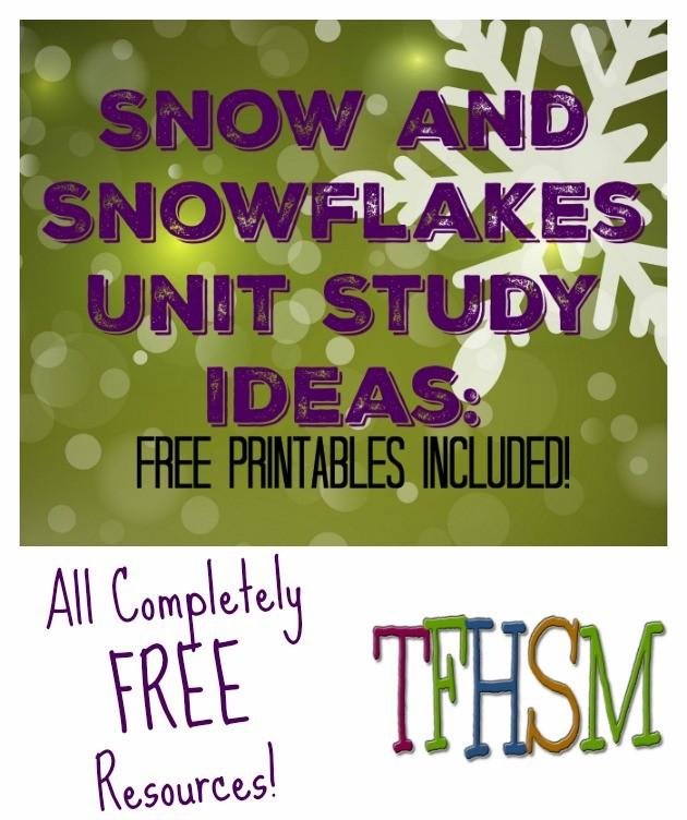 Snow and Snowflakes Unit Study Ideas with FREE Printable Preschool Kindergarten Pack