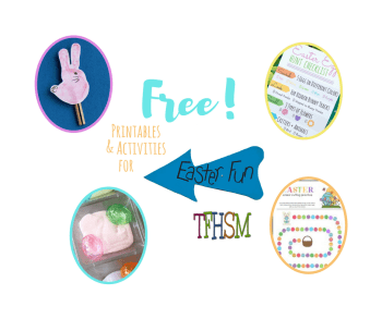 Free homeschool family printables unit study and activities for Easter from The Frugal Homeschooling Mom f