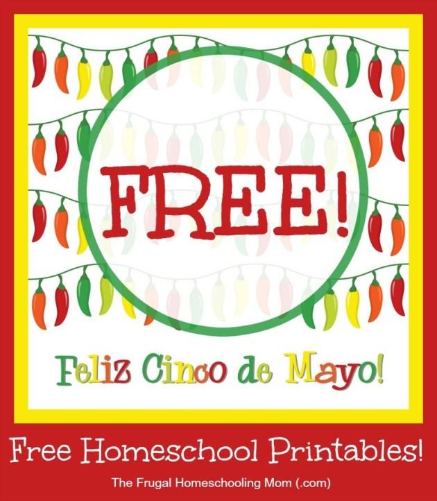 cinco de mayo free homeschool printables