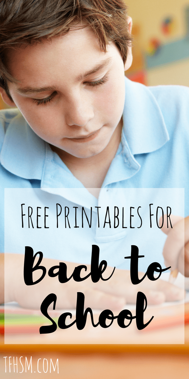 Back to Homeschool and first day of school free printables from the frugal homeschooling mom edited