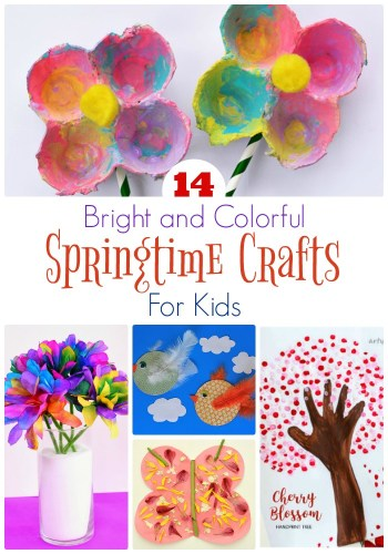 14 Bright and Colorful Springtime Crafts for Kids - The Frugal Homeschooling Mom