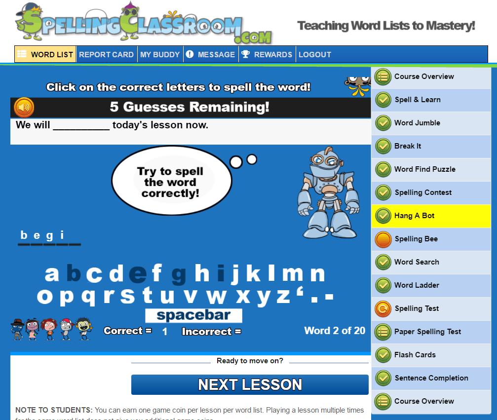 TFHSM Spelling Classroom Dyslexia