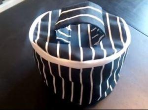 איך לתפור תיק עגול עם רוכסן