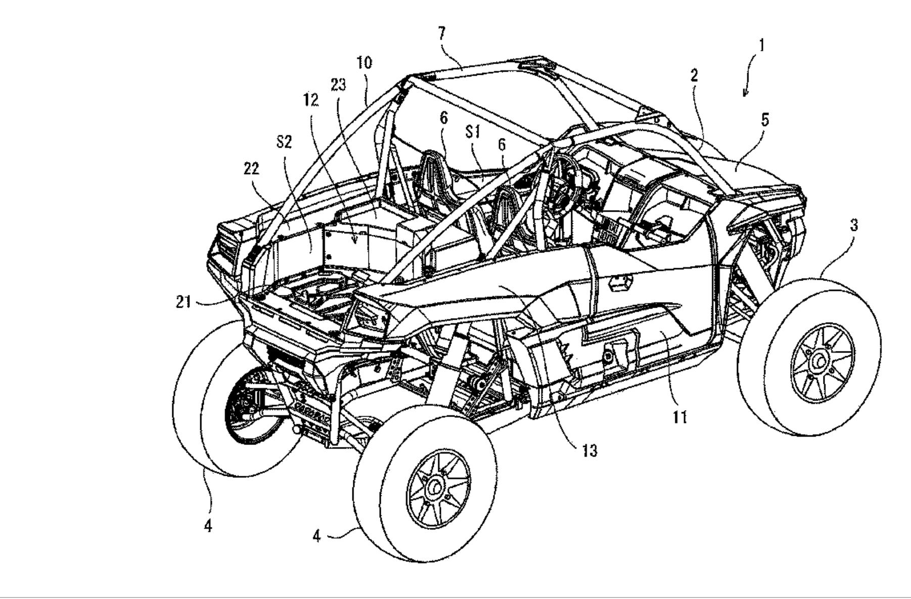 Proof Of A Kawasaki Sport Side By Side Surfaces In Patent