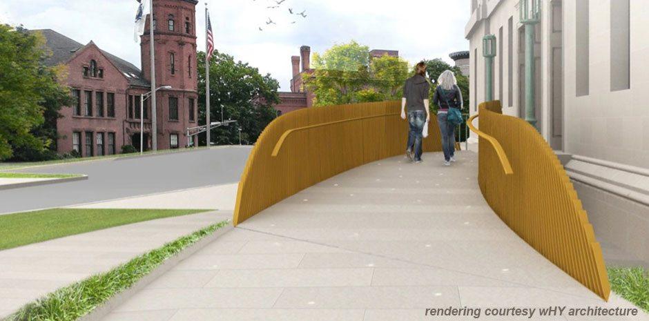 Worcester Art Museum Access Bridge