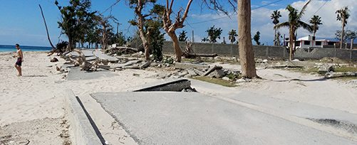 Haiti - Damaged Road at Port Salut