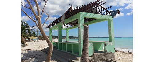 Haiti - Damaged Building at Port Salut