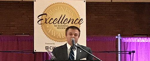TFMoran's Dylan Cruess, NHBR Business Excellence Award Winner