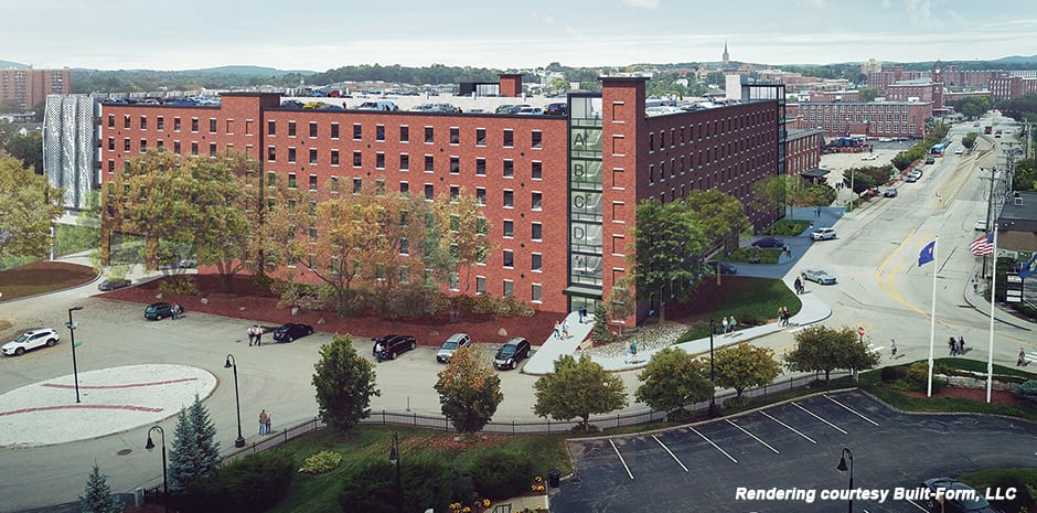 SNHU Millyard Parking Garage, Downtown Manchester, NH