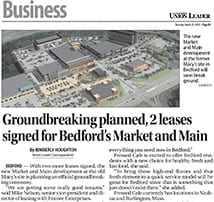 Union Leader Business Section features Groundbreaking Plans for TFMoran engineering project Market and Main
