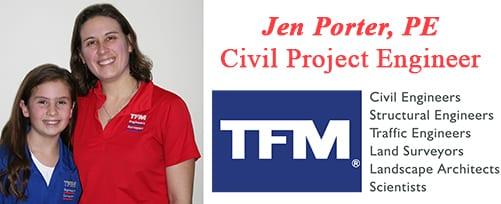 Jennifer Porter, PE - TFMoran Civil Project Engineer