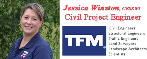 Jessica Winston, TFMoran Civil Project Engineer.