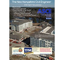 TFMoran Project on April's Cover of ASCE NH Newsletter