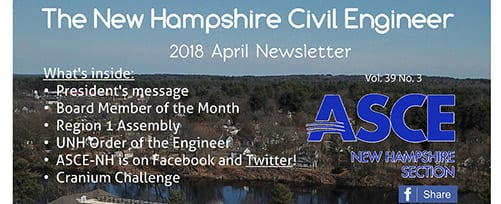 TFMoran on Cover of ASCE NH April 2018 Newsletter