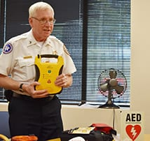 Thanks to NH Bureau of EMS, Bill Wood for the AED demonstration