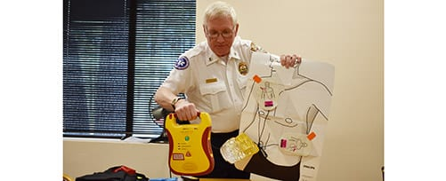 AED Demonstration at TFMoran