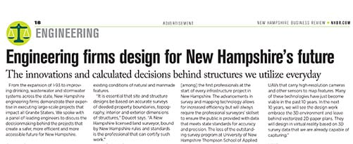 TFMoran featured in NHBR Engineering Article