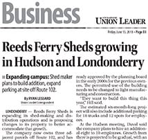 Union Leader Reeds Ferry Sheds Expansion