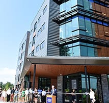 August 29th Ribbon Cutting Ceremony for SNHU's new 5-story, 382-bed Kingston Hall