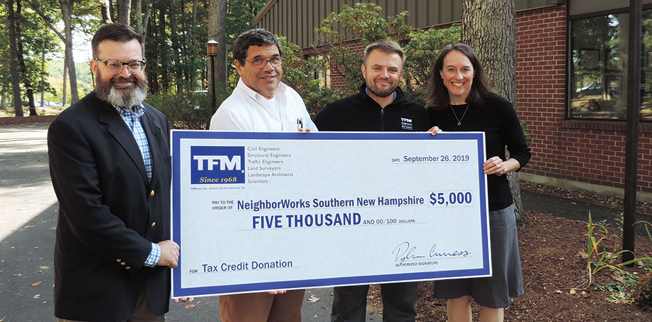 TFMoran donates to NeighborWorks Southern NH