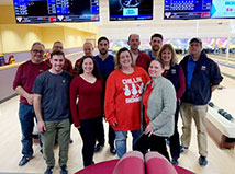 "TFMoran Portsmouth team throws a ""Holiday Bowl"" party"