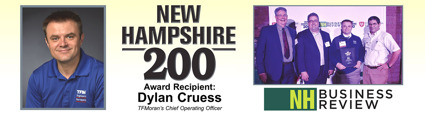 NH200 Award Recipient TFMoran's Dylan Cruess, COO
