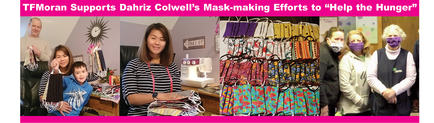 Dahriz Colwell's Mask-making efforts to Help the Hunger