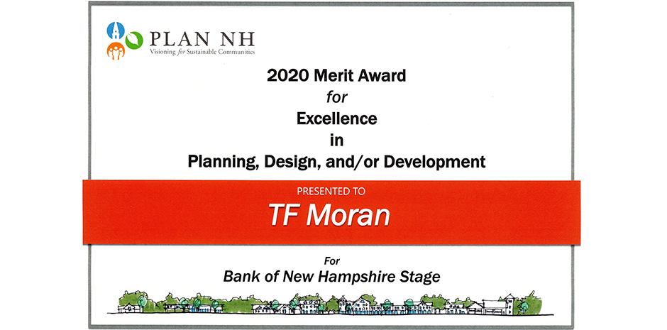 TFMoran PlanNH Merit Award Bank of NH Stage