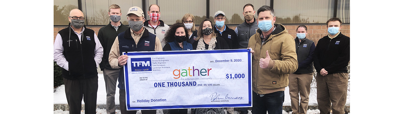 TFMoran donates $1000 to Gather