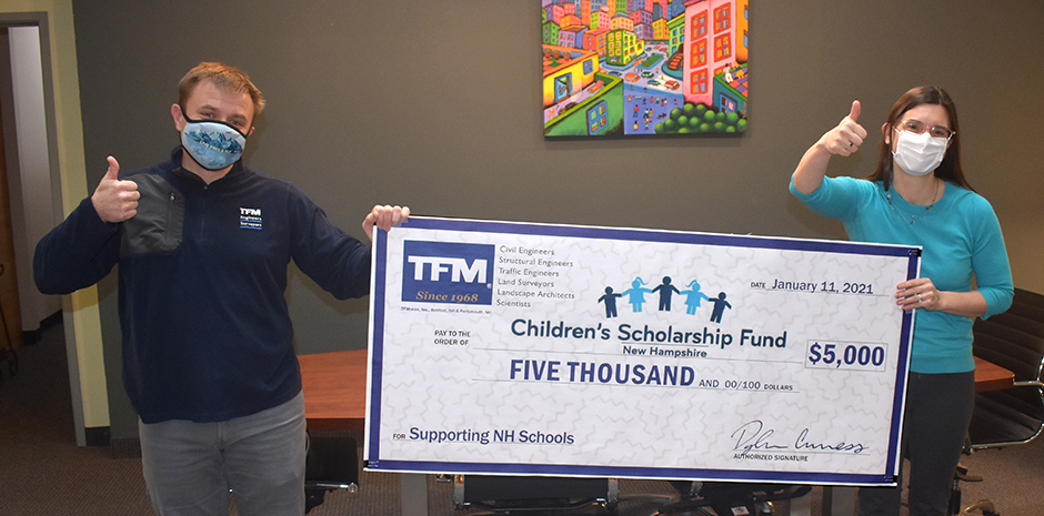TFMoran donates to NH Children's Scholarship Fund