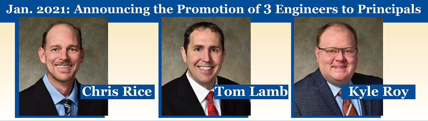 TFMoran Principals Chris Rice, Tom Lamb, Kyle Roy