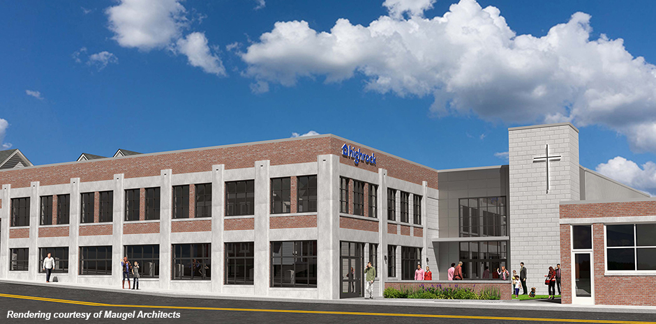 TFMoran structural engineers for Highrock Church in Arlington, MA