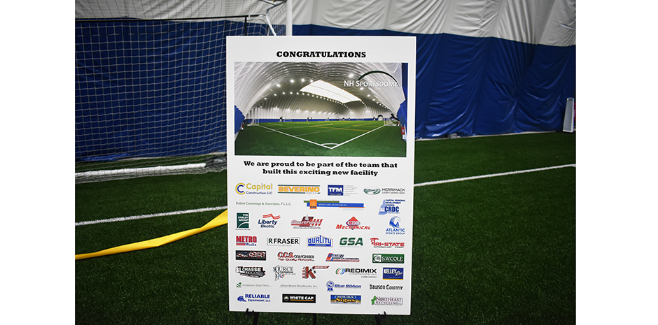 NH Sportsdome Hooksett Ribbon Cutting 3-1-21