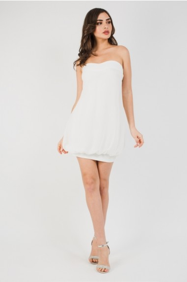TFNC Tiya Mini White Dress