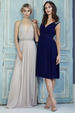 TFNC Monia Navy Midi Dress