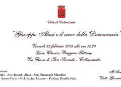 Venerdì l'intitolazione di via Due Fontane a Giuseppe Alessi primo presidente della Regione Siciliana