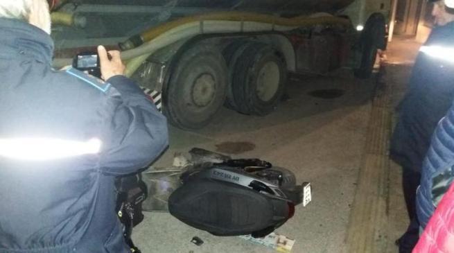 Scooter contro camion: 16enne trasferito a Palermo